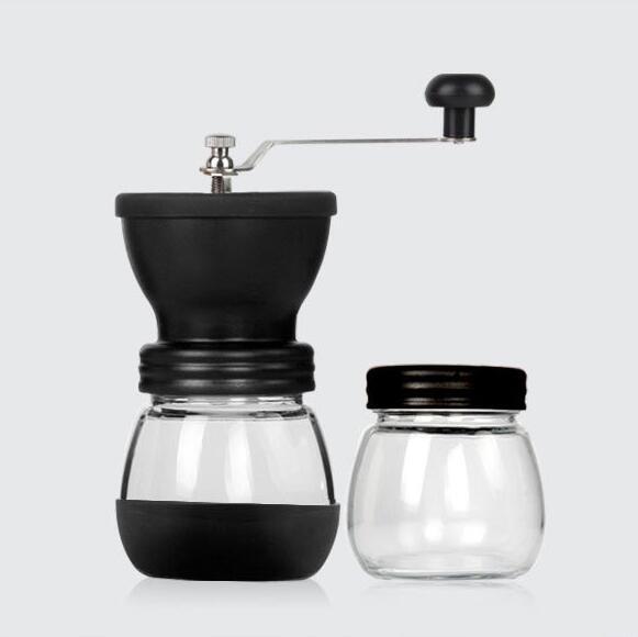 現貨水洗手搖咖啡磨豆機 手動咖啡機 咖啡豆研磨機家用粉碎機送密封罐  童趣