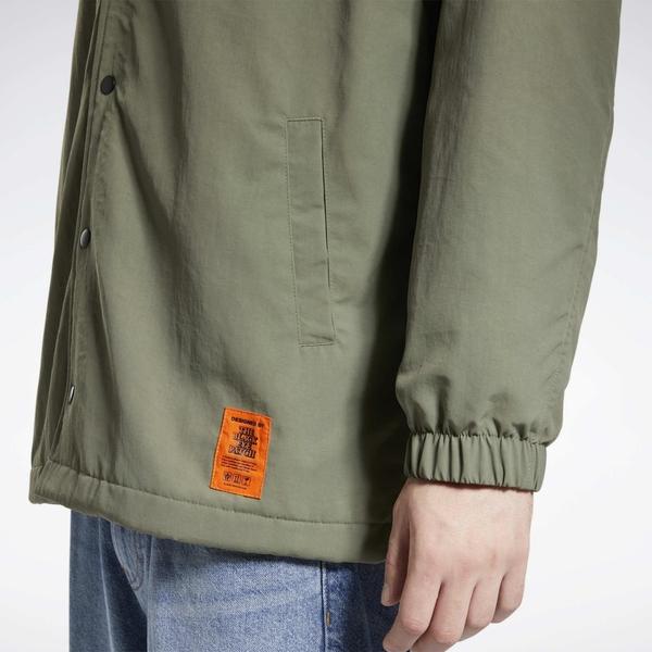 REEBOK X BLACK EYE PATCH 男裝 女裝 聯名 外套 休閒 街頭 鈕扣 側袋 綠【運動世界】GT4618