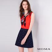 【網路獨賣】MOMA 燙鑽A字牛仔短裙