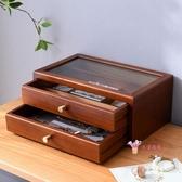 首飾盒 女木質首飾收納盒化妝盒手飾耳環飾品盒收納盒公主歐式韓國 3色