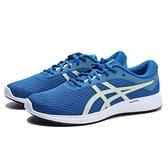 ASICS 休閒鞋 慢跑鞋 PATRIOT 11 寶藍 綠LOGO 網布 基本 路跑 男 (布魯克林) 1011A568403