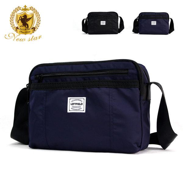 側背包 經典日系防水尼龍前口袋雙層斜背包包 porter風 NEW STAR BL132