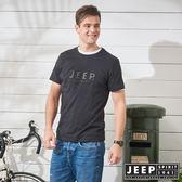 【JEEP】極簡立體圖騰短袖TEE-黑