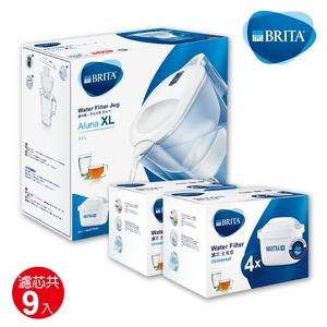 BRITA 愛奴娜濾水壺超值組(含新升級濾心共9芯)-白