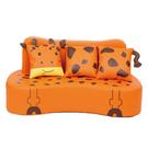 【華森葳兒童教玩具】沙發座椅系列-三人動物沙發-長頸鹿 GP1-4213
