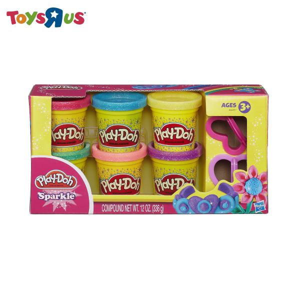 玩具反斗城 培樂多 閃亮黏土六色黏土組