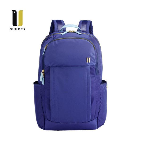SUMDEX  14.1吋+10吋平板 行動兩用後背包NON-754IB藍
