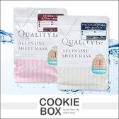 日本 QUALITY 1st 皇后的秘密 面膜 玻尿酸保濕 胎盤素淨白 面膜 保濕 補水 *餅乾盒子*