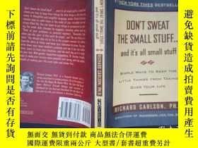 二手書博民逛書店Don t罕見Sweat the Small Stuff . .
