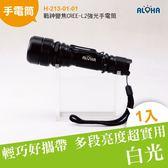 LED高亮度手電筒 戰神變焦CREE-L2強光手電筒 (H-213-01-01)