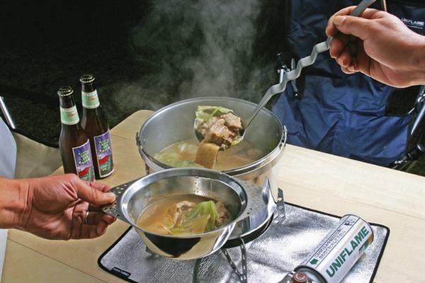 丹大戶外用品 日本【UNIFLAME】U662175 不鏽鋼湯波浪杓/湯勺/湯匙/湯瓢/餐具