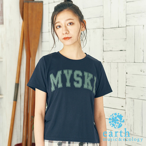 ❖ Must Buy ❖ 字母打印短袖T恤/上衣 - earth music&ecology