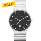 SKAGEN 經典系列 極簡時尚腕錶/手錶-黑x銀 SKW6109