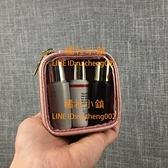 透明小號化妝包便攜迷你收納包雜物整理小包小方包【橘社小鎮】