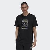 Adidas CAMO INFILL TEE 男款 黑色 運動 休閒 上衣 H13502【KAORACER】