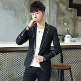 新款春秋西裝男士外套休閒韓版西服修身單上衣青年帥氣小西裝潮流