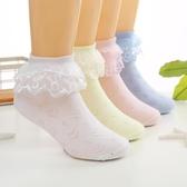 兒童襪兒童襪子春秋白色寶寶襪蕾絲花邊襪純棉女童襪舞蹈透氣小學生短襪促銷好物
