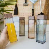水杯韓國原宿水杯男女士學生韓版個性創意潮流塑料杯子帶蓋簡約隨手杯 小明同學