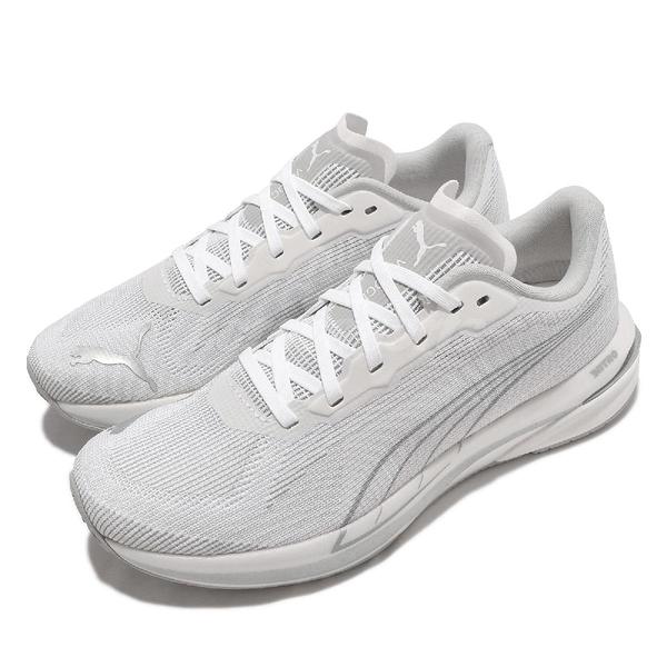 Puma 慢跑鞋 Velocity Nitro CoolAdapt 氮氣科技 白 銀 女鞋【ACS】 37606901