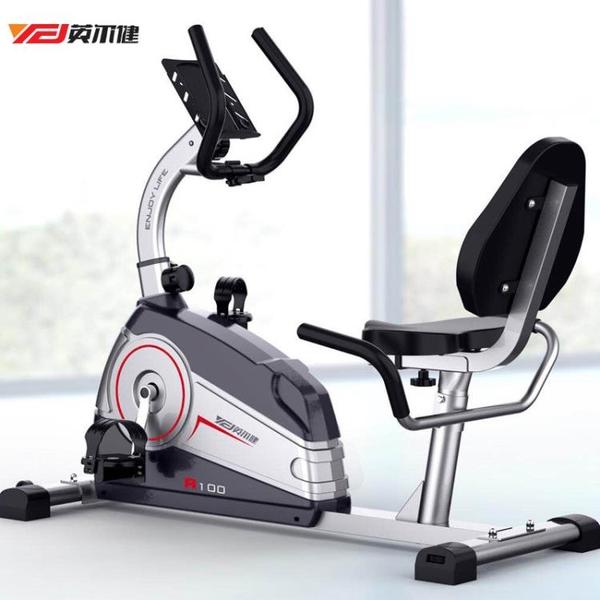 健身車 英爾健 懶人健身車家用磁控健身車臥式懶人自行車動感單車健身器踏步機