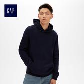 Gap男裝 柔軟復古套頭連帽衛衣488114-海軍藍