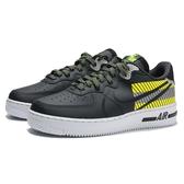 NIKE 休閒鞋 AIR FORCE 1 REACT LX 3M 黑黃 反光 避震 男 (布魯克林) CT3316-003