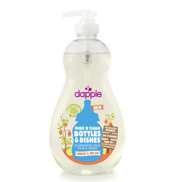 美國 Dapple Baby 芒果甜瓜奶瓶及餐具清潔液500ML