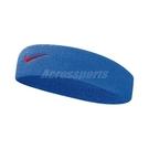 Nike 頭帶 Swoosh HeadBand 藍 紅 男女款 髮帶 毛巾布 【PUMP306】 N000154444-9OS