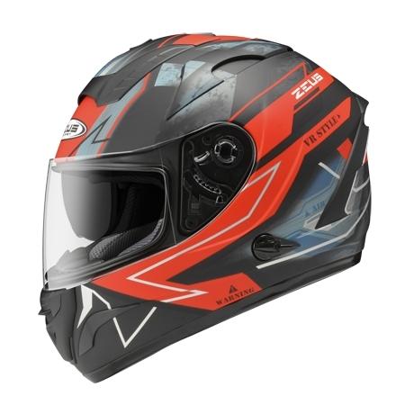 ZEUS 瑞獅安全帽,ZS-806F,II68/消光黑紅