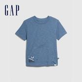Gap男幼動物造型口袋圓領短袖T恤577629-灰藍色