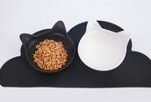 貓耳陶瓷碗組合2只裝貓碗貓咪飯盆食盆水碗小狗狗碗折耳寵物用品【快速出貨】