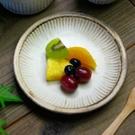 日本益子燒 - 粉引燻緣紋圓盤...