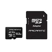 ARCANITE 512G microSD U3 V30 A1記憶卡+轉卡【愛買】