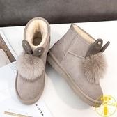 雪地靴女冬季百搭加厚加絨保暖棉鞋【雲木雜貨】