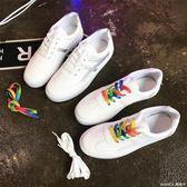 小白鞋女百搭 學生平底休閒板鞋原宿帆布女鞋子潮莫妮卡小屋