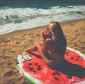 K.J時尚(WUNa07)批發新款西瓜圖案人棉沙灘墊 瑜伽墊 沙灘巾披肩