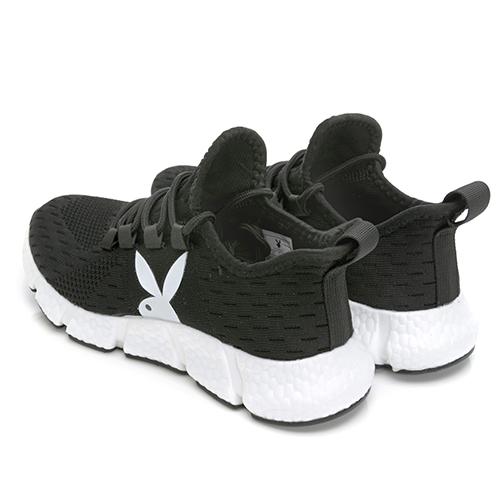 PLAYBOY Explode 輕量緩震爆米花鞋-黑(Y7231)