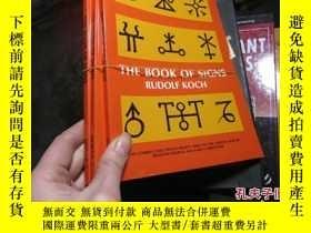 二手書博民逛書店the罕見book of signs rudolf koch 2