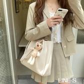包包女斜挎包百搭大容量單肩包2020新款潮韓版簡約手提女包托特包