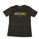 (B4) MIZUNO 美津濃 男 運動上衣 短袖T恤 合身版型 32TA001109 灰黑 [陽光樂活]