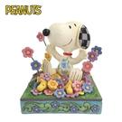 【正版授權】Enesco 史努比 花叢玩耍 塑像 公仔 精品雕塑 Snoopy PEANUTS - 283309