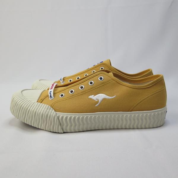 KangaROOS 袋鼠 CRUST 低筒帆布鞋 綁帶 餅乾鞋 正品 KM91264 薑黃 男款【iSport愛運動】