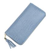 長夾 鱷魚紋 皮 拉鍊 潮 卡包 錢包 手拿包 長夾【CLA035】 BOBI  01/04