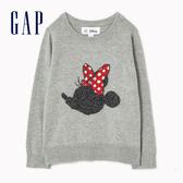 Gap女幼Gap x Disney 迪士尼系列米妮織紋圓領毛衣499772-米妮老鼠圖案