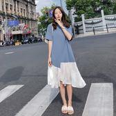 雪紡連身裙 女夏文藝寬鬆連身裙 東京衣櫃