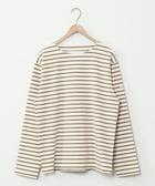 男 T恤 橫條紋上衣 船型領 日本品牌【coen】