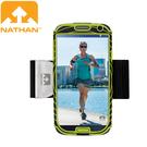 【NATHAN 美國 S4手臂套/黑綠】NA4925NBE/Galaxy S/手臂套/手機袋/慢跑/馬拉松/路跑