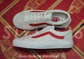 ISNEAKERS Vans Style 36 Marshmal 米白紅 麂皮 帆布 GD著 VN0A3DZ3OXS