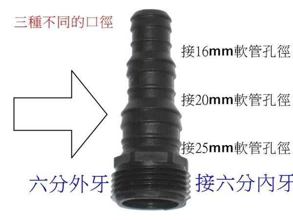 一寸外牙轉三種不同水管規格轉快速接頭5個