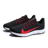 NIKE QUEST2 黑紅 飛線 輕量 透氣 慢跑鞋 男 (布魯克林) CI3787-001